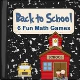 Back to School Math Games (Common Core Aligned- Kindergarten)