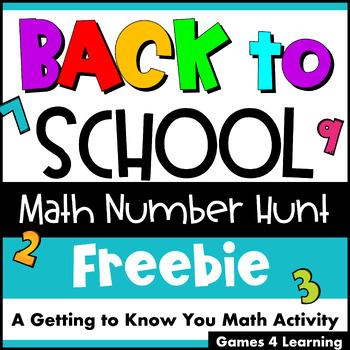 Back to School Math Number Hunt