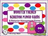 Back to School: Monster Themed Behavior Punch Cards (and o