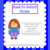Back to School Nouns:  a file folder game