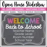 Chalkboard Back to School Open House Powerpoint Template