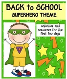 Back to School Pack Superhero Theme
