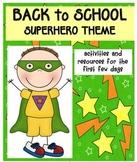 Back to School Pack Superhero Theme