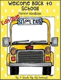 Back to School Parent Handbook...Forms and Information