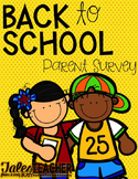 Back to School {Parent Survey}