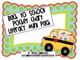 Back to School Pocket Chart Literacy Mini Pack
