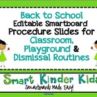 Back to School Procedures Slides for Classroom, Playground