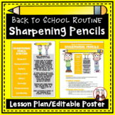 FREE Back to School Procedures for Sharpening Pencils
