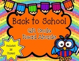 Back to School QR Code Read Alouds- 26 Stories!