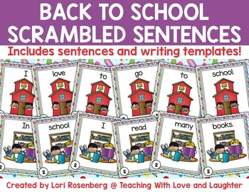 Back to School Scrambled Sentences