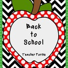Back to School: Teacher Forms