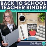 Back to School Teacher Organization Binder {Plan for the N