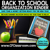 Back to School Teacher Organization Binder {Plan for the N