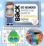 Back to School Vocabulary Bottle Cap Game {first and secon