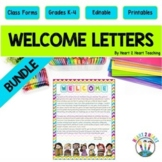 Back to School Welcome Letter to Students {Editable}