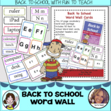 Back to School Word Wall - copy, cut and go!