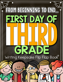 Back to School and End of the Year Flip Flap Book 3rd Grade