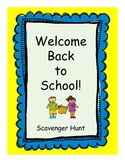 Back to School and Open House Scavenger Hunt