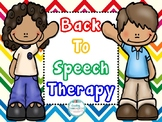 Back to Speech Therapy