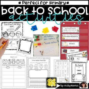 Back to school Activities { fun pack / unit }