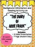 """Background Information on """"The Diary of Anne Frank"""""""
