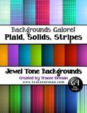Backgrounds in Jewel Tones Plaids, Stripes, Solids Digital Paper