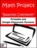 Balanced Checkbook - Math Project