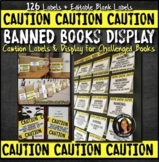 Banned Books Caution Labels