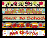Banners for TPT ~ Back to School
