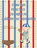Baseball Math Fact Strategy Centers