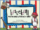 Baseball Math and Literacy Unit