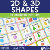 Basic & 3D Geometric Shape Posters BUNDLE