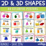 Basic & 3D Geometric Shape Posters - Chevron - BUNDLE