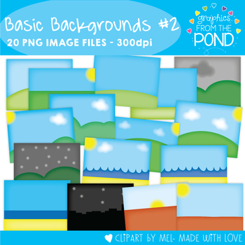 Basic Backgrounds Set 2 - Clipart for Teachers and Teaching