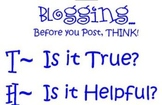 Basic Blogging Rules Poster