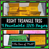 Basic Right Triangle Trig: Interactive Notebook Pages