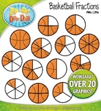 Basketball Fractions Clipart — Over 20 Graphics!