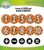 Basketball Math Numbers Clipart — Over 30 Graphics!