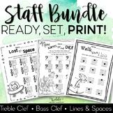 Staff Worksheet Bundle