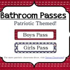 Bathroom Passes-Patriotic Theme