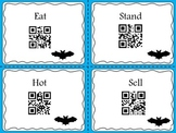 Batty Antonyms QR codes! No print! FREEBIE!!