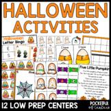 Halloween Math and Literacy Centers {BUNDLE}