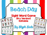Beach Day Sight Word Game (Fry Version)