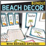 Beach Themed Editable Classroom Pack