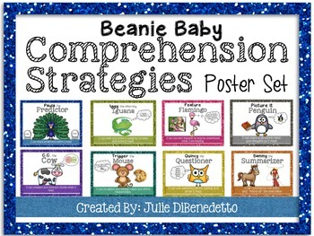 Beanie Baby Comprehension Strategies Poster Set