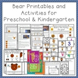 Bear Printables and Activities for Preschool and Kindergarten
