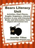 Bears Literacy Unit Activities, Chart Pieces, Literacy Cen