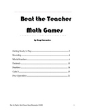 Beat the Teacher Math Games