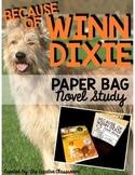 Because of Winn Dixie Paper Bag Novel Study