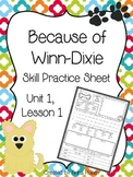 Because of Winn-Dixie (Skill Practice Sheet)